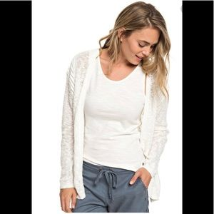 Roxy white cardigan sweater